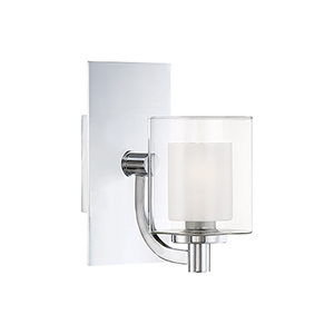 Kolt Polished Chrome One-Light LED Bath Sconce