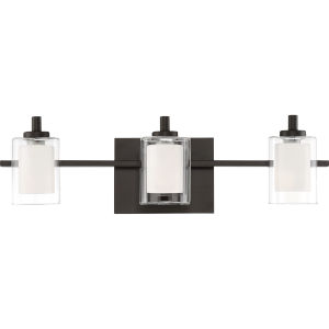 Kolt Western Bronze Three-Light LED Bath Vanity