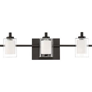 Kolt Western Bronze Three-Light LED Bath Vanity