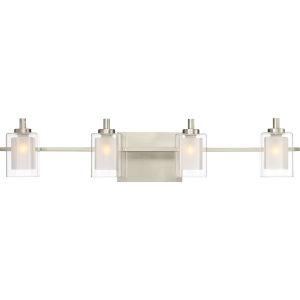Kolt Brushed Nickel LED Four-Light Bath Light