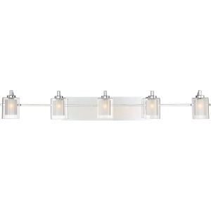 Kolt Polished Chrome LED Five-Light Bath Light