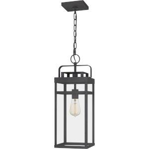 Keaton Mottled Black One-Light Outdoor Pendant