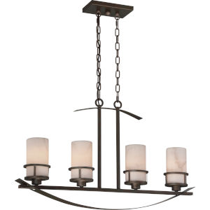 Kyle Iron Gate Four-Light Island Chandelier