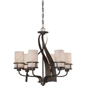 Kyle Iron Gate Six-Light Dinette Chandelier
