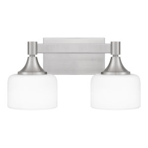Ladson Brushed Nickel Two-Light Bath Vanity
