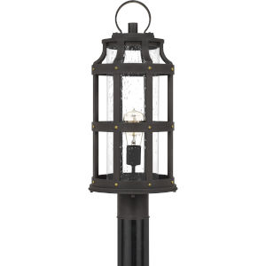 Lassiter Palladian Bronze One-Light Outdoor Post Lantern with Transparent Seedy Glass