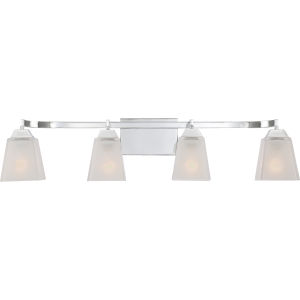Loft Polished Chrome 34-Inch Four-Light Bath Vanity