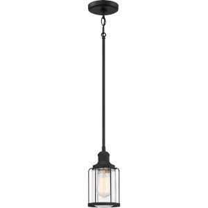 Ludlow Earth Black Five-Inch One-Light Mini Pendant