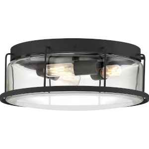 Ludlow Earth Black Three-Light Semi-Flush Mount