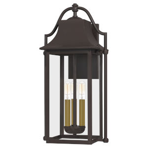 Manning Western Bronze Three-Light Outdoor Wall Mount