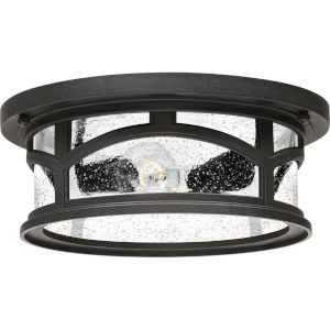 Marblehead Mystic Black Two-Light Outdoor Flush Mount