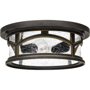 Marblehead Palladian Bronze Two-Light Outdoor Flush Mount