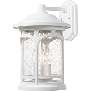 Marblehead Fresco 15-Inch Three-Light Outdoor Wall Sconce