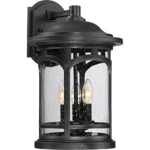 Marblehead Mystic Black 11-Inch Three-Light Outdoor Wall Lantern