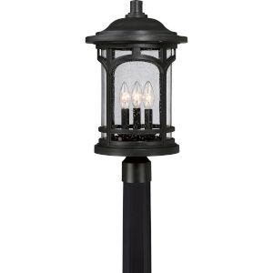 Marblehead Mystic Black 11-Inch Three-Light Outdoor Post Mount