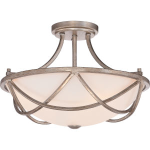 Milbank Vintage Gold Two-Light Semi-Flushmount