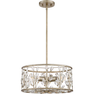 Meadow Lane Vintage Gold Three-Light Convertible Pendant