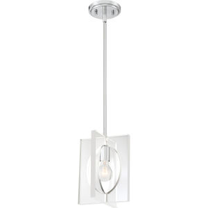 Midpoint Polished Chrome One-Light Mini Pendant