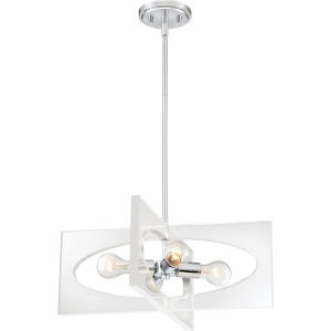 Midpoint Polished Chrome 20-Inch Four-Light Pendant