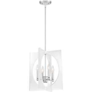 Midpoint Polished Chrome 14-Inch Four-Light Pendant