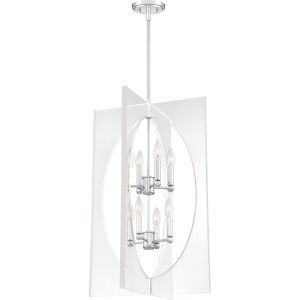 Midpoint Polished Chrome Eight-Light Pendant
