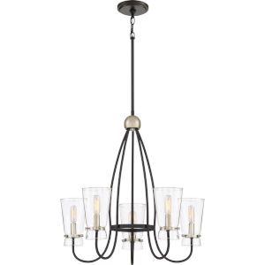Midnight Western Bronze Five-Light Chandelier