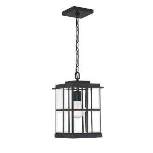 Mulligan Matte Black Eight-Inch One-Light Outdoor Pendant