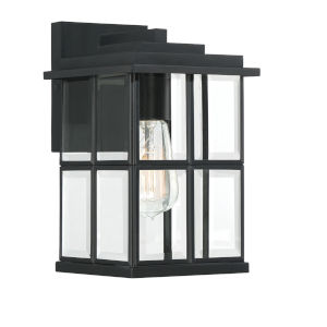 Mulligan Matte Black Seven-Inch One-Light Outdoor Wall Sconce