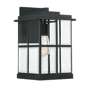 Mulligan Matte Black Eight-Inch One-Light Outdoor Wall Sconce