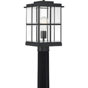 Mulligan Matte Black Eight-Inch One-Light Outdoor Post