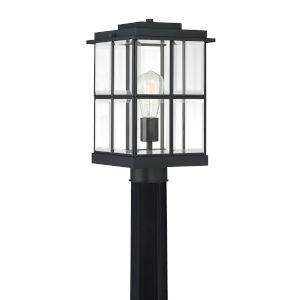 Mulligan Matte Black Eight-Inch One-Light Outdoor Post