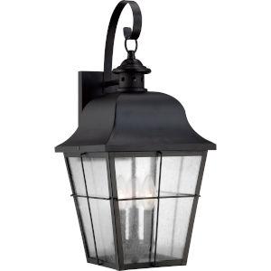 Millhouse Mystic Black Three Light Outdoor Wall Fixture