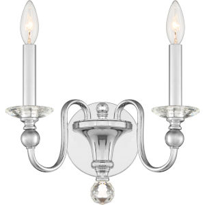 Mila Polished Chrome Two-Light Wall Sconce