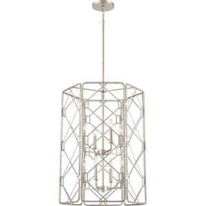 Mission Rubbed Silver Eight-Light Pendant