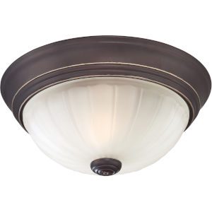 Melon Palladian Bronze One-Light Flush Mount
