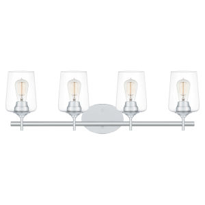 Miller Polished Chrome Four-Light Bath Vanity