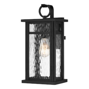 Moira Earth Black Eight-Inch One-Light Outdoor Wall Mount