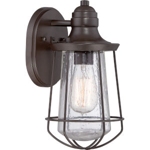 Marine Western Bronze One Light Clear Seedy Outdoor Wall Fixture