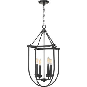 Mooring Earth Black 17-Inch Four-Light Chandelier