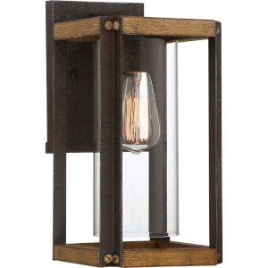 Marion Square Rustic Black 13-Inch One-Light Outdoor Lantern with Clear Glass