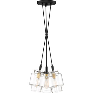 Naomi Earth Black 14-Inch Three-Light Pendant