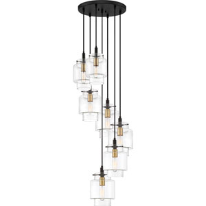 Naomi Earth Black 18-Inch Seven-Light Pendant