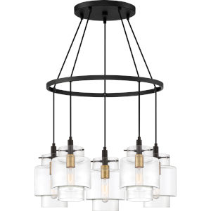 Naomi Earth Black Five-Light Chandelier