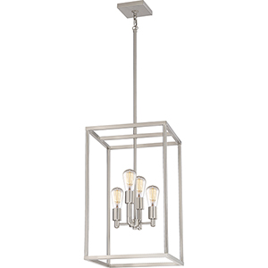 New Harbor Brushed Nickel Four-Light Pendant
