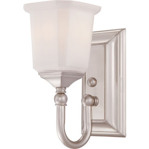 Nicholas Brushed Nickel One-Light Bath Fixture