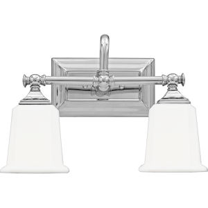 Nicholas Polished Chrome Two-Light Bath Light