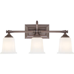 Nicholas Harbor Bronze Three-Light Bath Fixture