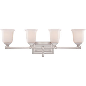 Nicholas Brushed Nickel Four-Light Bath Fixture
