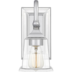 Nicholas Polished Chrome One-Light Wall Sconce with Clear Glass