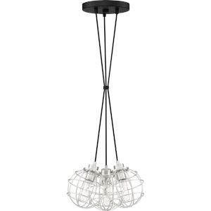 Navigator Earth Black 14-Inch Three-Light Pendant